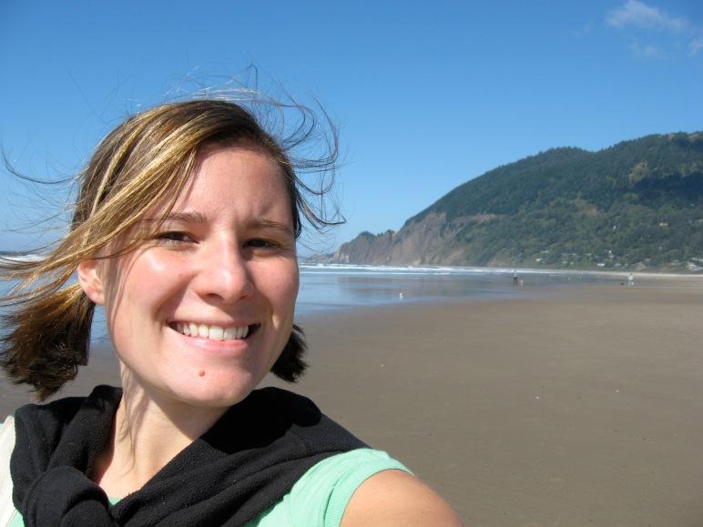 Author selfie on Manzanita beach near Neahkanie Mountain during first retreat